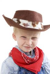 expressive little boy