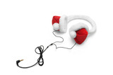 christmas headphones poster