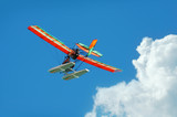 colorful ultralight airplane