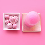 pink composition with candle poster