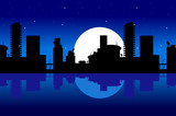 city and night poster