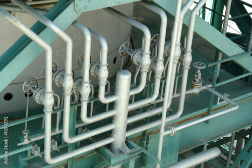 pipes and valves in industrial petrochemical factory