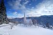 small church in winter