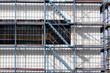 Leinwanddruck Bild - treppe bei gerüstbau