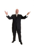 businessman gesturing poster