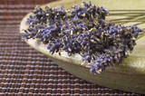 dried lavender bunch. countryside poster