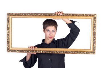 girl portrait with frame