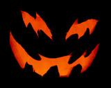 scary pumpkin up close poster