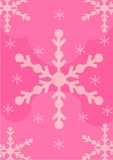 christmas - pale pink snow flakes background poster