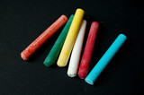 colorful chalk sticks poster