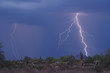 lightning striking the high desert