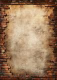 Fototapety brick wall grungy frame
