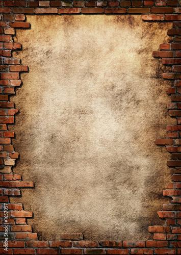 mur-z-cegiel-z-dziura