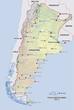 argentinien landkarte argentinia map