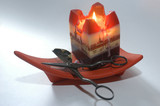 candle and scissors. poster