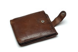 old leather brown purse poster