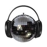 disco headphones poster