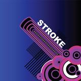 blue stroke poster