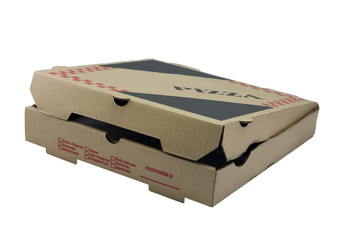 partially open pizza box