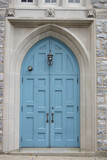 blue church doors