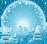 fantasy christmas landscape poster