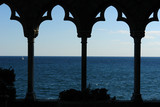 view of the atlantic ocean from hammond castle poster