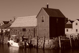 old fishing shack  motif number one sepia poster