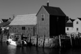 old fishing shack  motif number one black and white poster