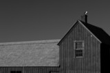 old fishing shack  motif number one up close black and white poster