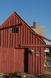old fishing shack  motif number one back side poster