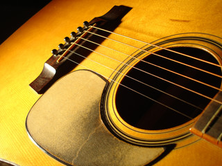 acoustic guitar at angle