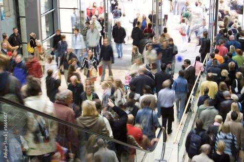 Leinwanddruck Bild shopping center crowd