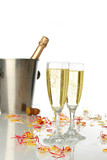 celebration with champagne poster