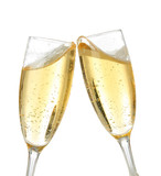 celebration toast with champagne poster
