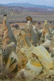 stone formations in cappadocia, turkey poster