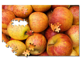 apfel puzzle apple jigsaw