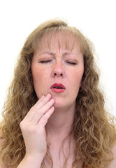 woman with a bad toothache