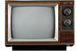 canvas print picture - vintage television