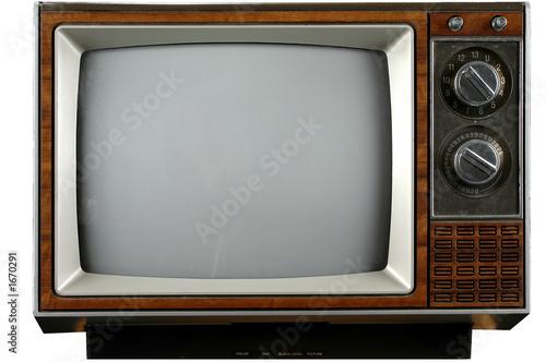 canvas print picture vintage television