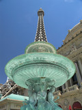 eiffel tower fountain poster