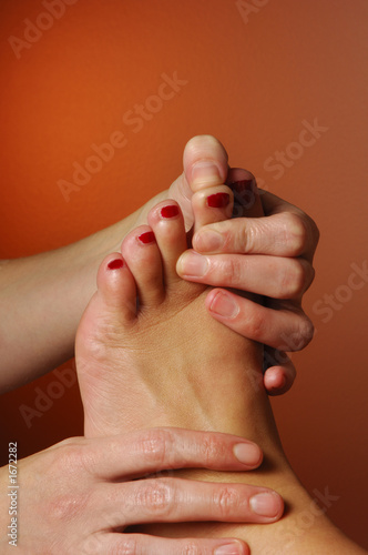 massage reflexology finger to toe zone