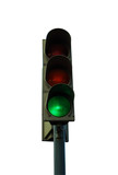traffic light at white background poster