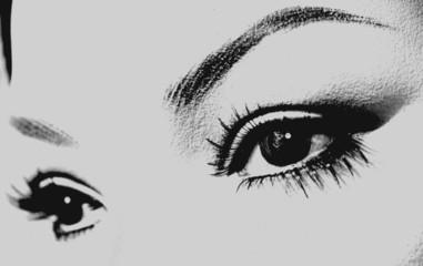 a woman's eyes