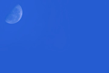moon in blue sky