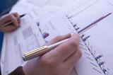 Fototapete Business - Zeichnen - Büromaterial