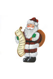 santa holding a gift list poster