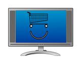 online shopping guy poster