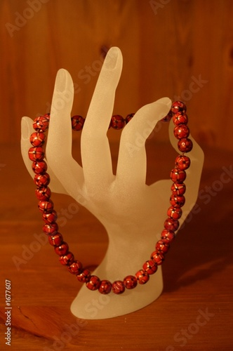 fashion hand with necklace