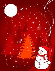 christmas illustration - snowball