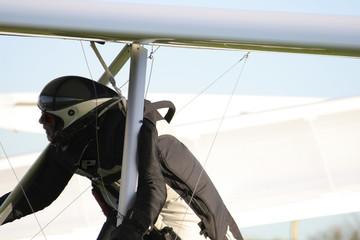 close-up paraglider